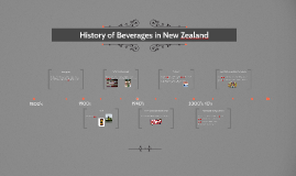 History of Beverages in New Zealand