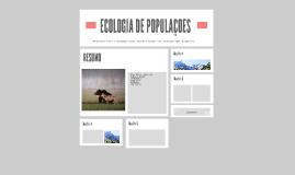 ECOLOGIA DE POPULAÇOES