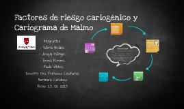 Factores de riesgo cariogénico y Cariograma de Malmo