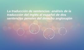 La traducción de sentencias: análisis de la traducción del i