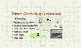 Primera Generación de Computadoras.