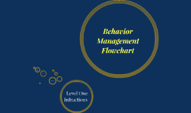 Behavior Management Flowchart