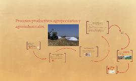 Procesos productivos agropecuarios y agroindustriales.