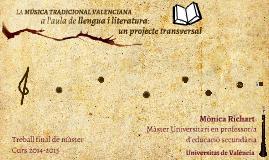 Copy of LA MÚSICA TRADICIONAL VALENCIANA