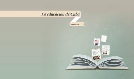 La educacion de Cuba