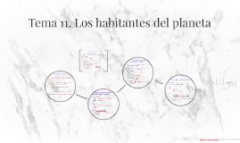 Tema 11. Los habitantes del planeta