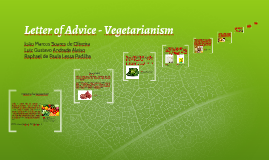 Letter of Advice - Vegetarianism
