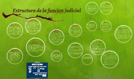 Estructura de la funcion judicial