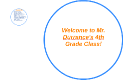 Welcome to Mr. Durrance's 4th grade