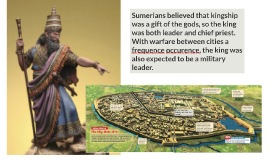 Sumerian cities were usually surrounded by a high stone wall