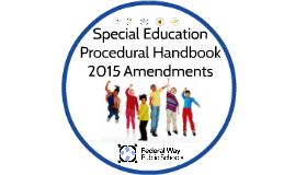 2015 Procedural Handbook Amendments
