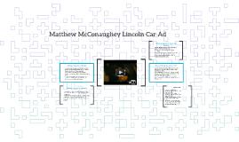 Matthew McConaughey Lincoln Car Ad