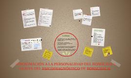 APROXIMACION A LA PERSONALIDAD DEL HOMICIDA A