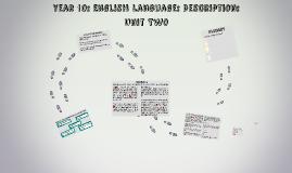 Year 10: English Language: Description: Unit Two