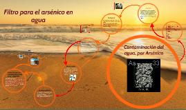 Contaminación del agua, por Arsénico