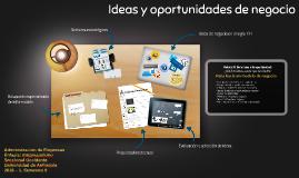 Copy of Ideas y oportunidadesde negocio