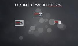 cuadro de mando integral (CMI) es una herramienta de gestió