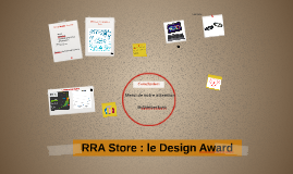 RRA Store : le Design Award