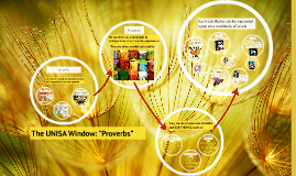 The UNISA Window: Proverbs