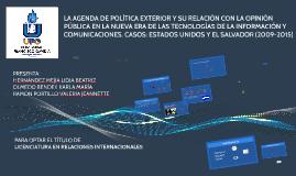 LA AGENDA DE POLÍTICA EXTERIOR Y SU RELACIÓN CON LA OPINIÓN