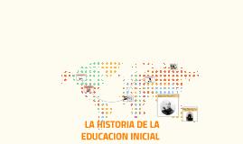 LA HISTORIA DE LA EDUCACION INICIAL