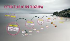 La estructura de un programa