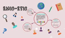 EMIC-ETIC