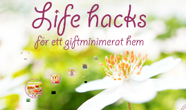 Life hacks för ett giftminimerat hem