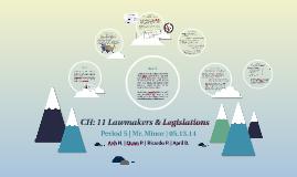 CH: 11 Lawmakers & Legislations