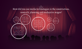 How did you use media technologies in the construction, rese