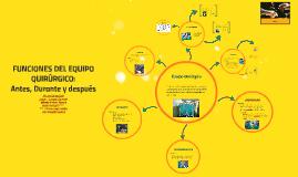 FUNCIONES DEL EQUIPO QUIRURGICO: Antes, Durante y después