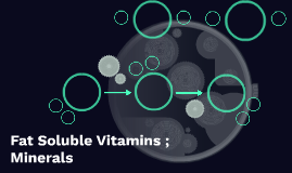 Minerals and Fat Soluble Vitamins