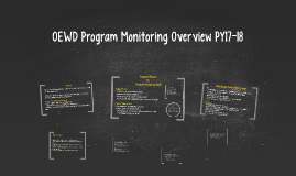 OEWD Program Monitoring
