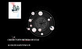 Création d'un BTS Métiers de l'eau au lycée Saint Paul IV
