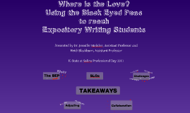 Where is the Love? Using the Black Eyed Peas to reach Expository Writing Students