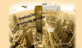 formato de evaluacion de proyecto vida