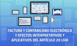 FACTURA Y CONTABILIDAD ELECTRÓNICA Y EFECTOS INTERPRETATIVOS