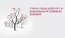 UNIDAD 3 EVALUACIÓN DE LAS ESTRATEGIAS DE COMERCIO EXTERIOR