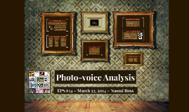 Photo-voice Analysis