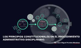 LOS PRINCIPIOS CONSTITUCIONALES EN EL PROCEDIMIENTO ADMINIST