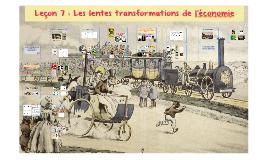 Séance 8 : Les lentes transformations de l'économie
