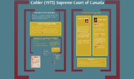 Calder Case Overview