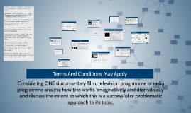 Considering ONE documentary film, television programme or ra