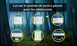 Loi sur le système de justice pénale pour les adolescents