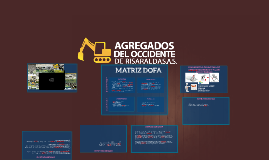 AGREGADOS DEL OCCIDENTE DE RISARALDA