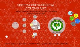SISTEMA PRESUPUESTAL COLOMBIANO