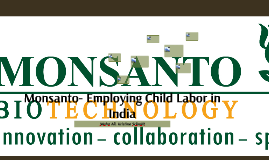 Monsanto- Employing Child Labor in India