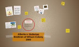 Alberta v. Hutterian Brethren of Wilson Colony 2009