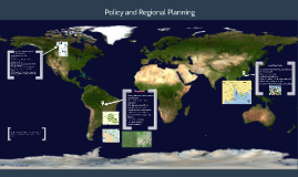 Policy and Regional Planning