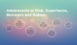 Adolescents at Risk- Superheros, Monsters and Babies.